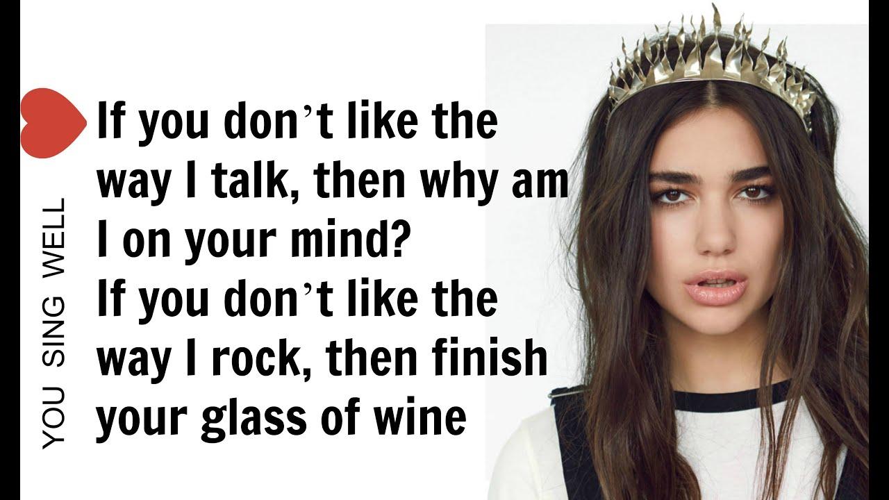 Blow Your Mind.Dua Lipa Blow Your Mind Mwah Lyrics