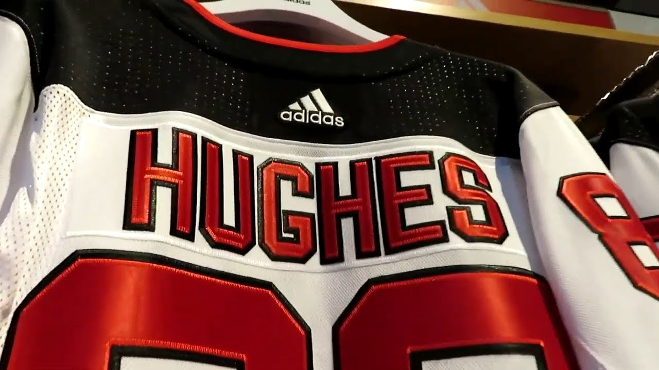 low priced 5a5f6 83582 Jack Hughes NJ Devils Jersey - Home and away jerseys - No. 1 pick in the  2019 NHL Draft