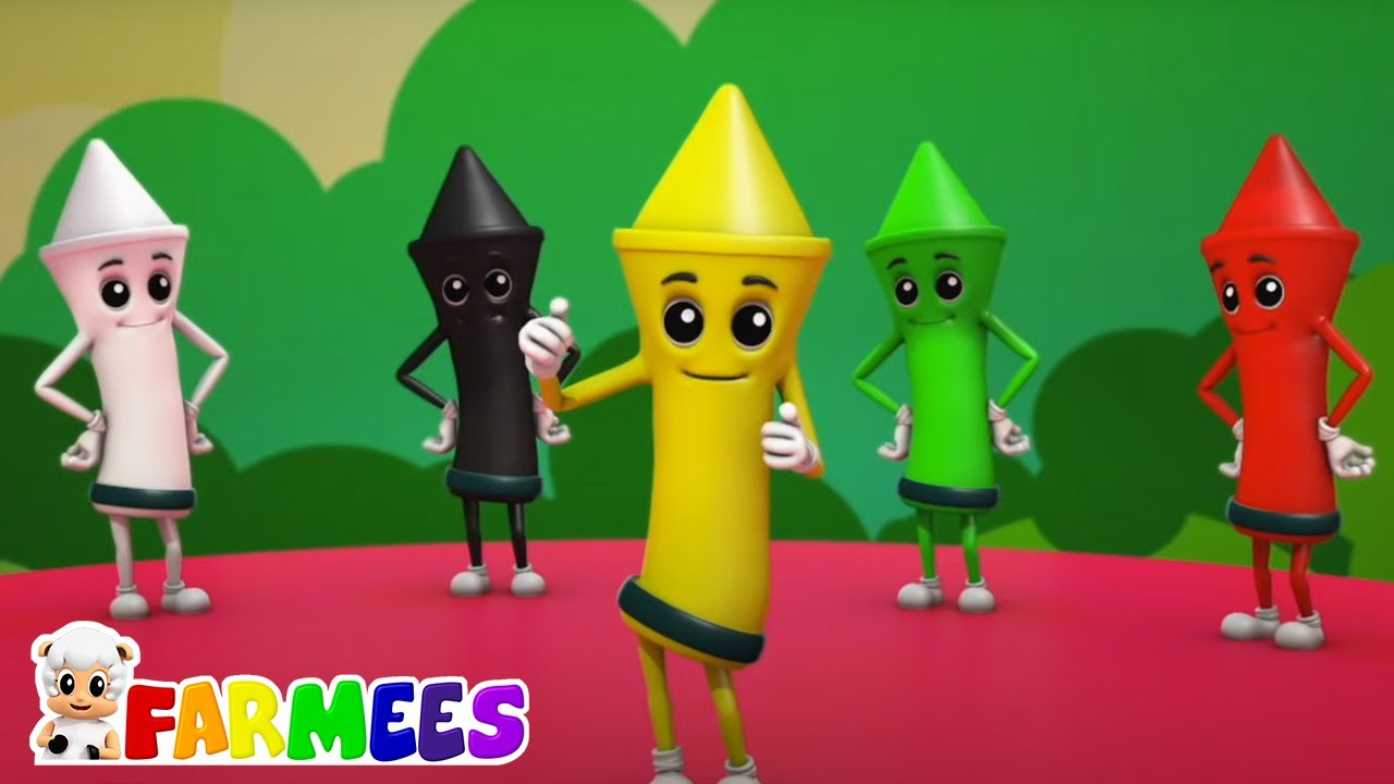 Canción de colores de crayones | Videos para bebes | Farmees Español | Canciones Infantiles