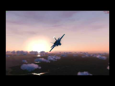 Night and Day - VRS FA18E ORBX FTX with REX for FSX