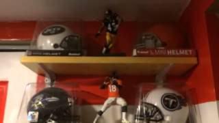 NFL mini helmet collection including throwbacks