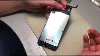 Не работает 3D touch и  touch ID iPhone 7- порван шлейф на дисплее