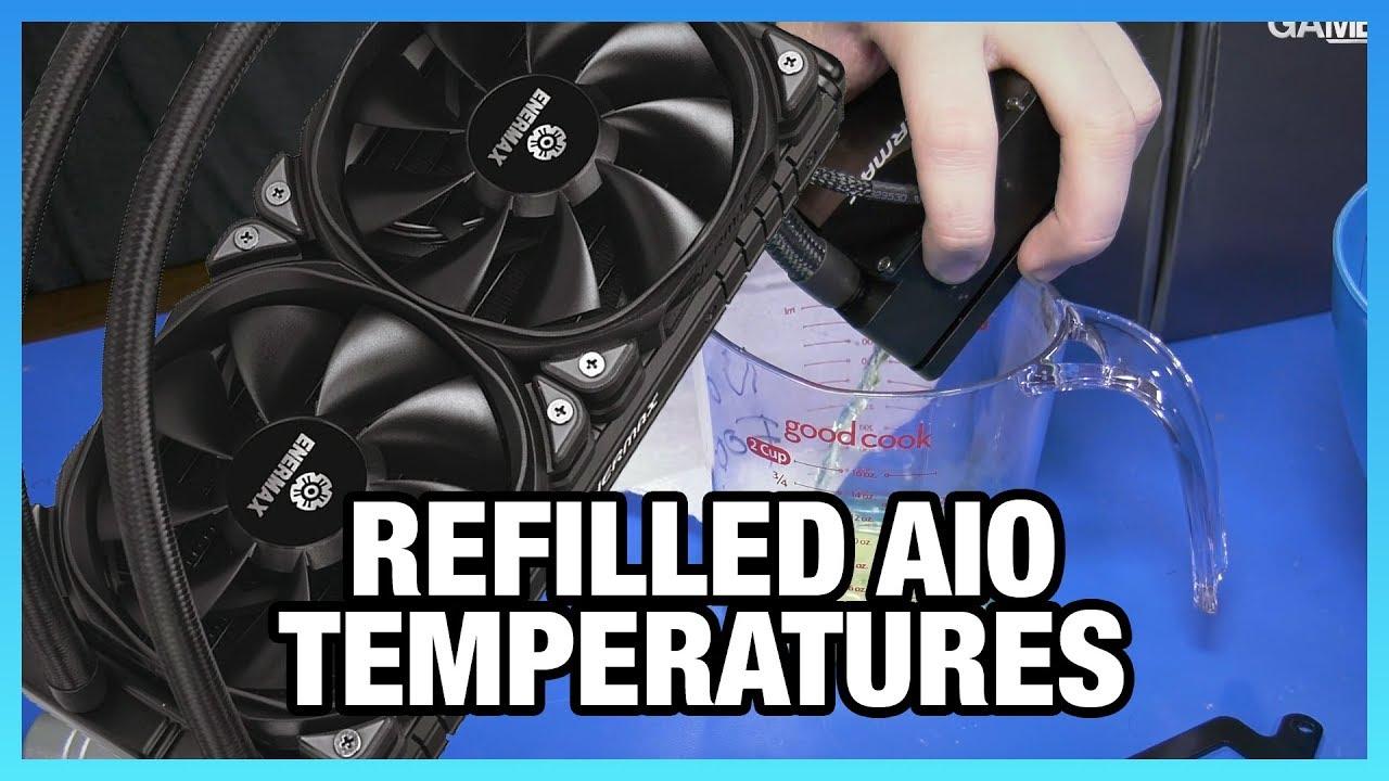 Temperatures After Refilling a Liquid Cooler