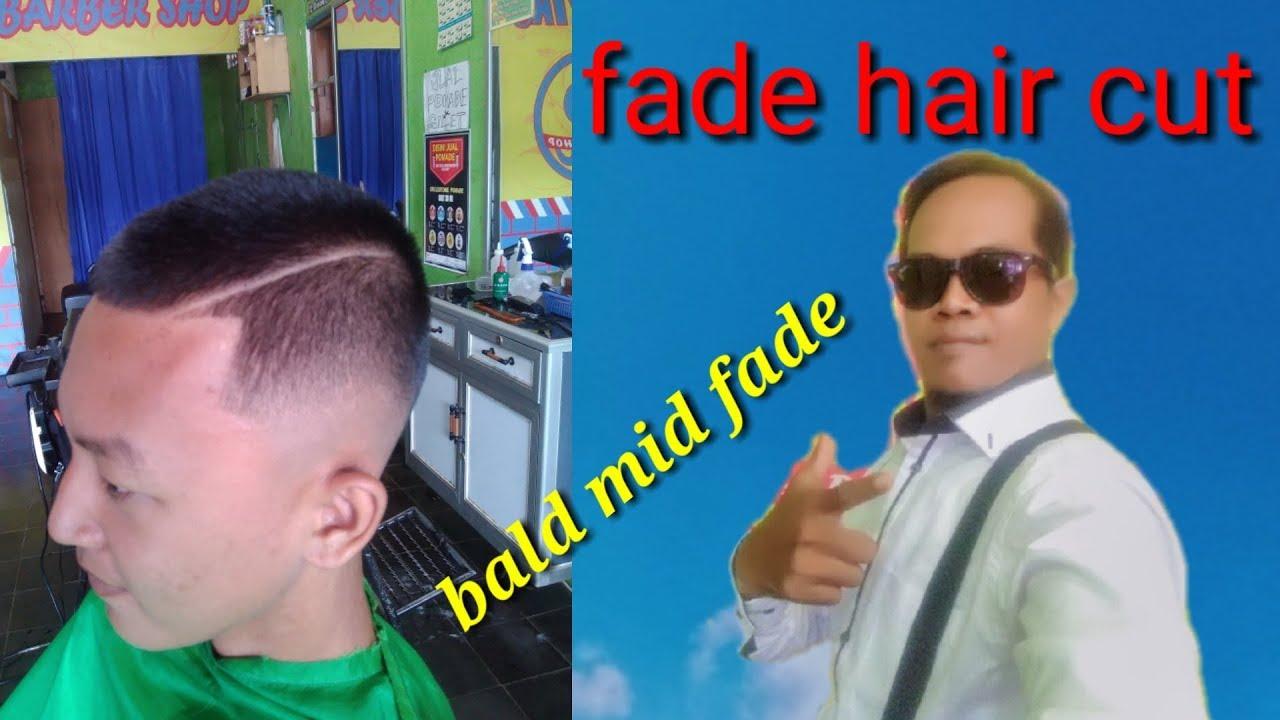 Nama potongan rambut pria/midl Fade/fade hair cut/bald mid ...