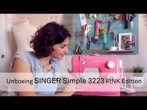 Unboxing  Máquina de coser Singer Simple 3223 – Pink Edition