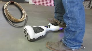 ROPING On A HOVERBOARD