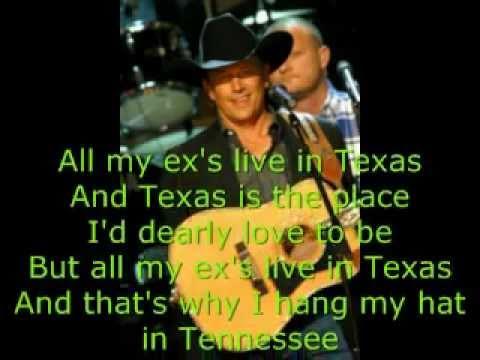 George Strait All My Exes W Lyrics Youtube