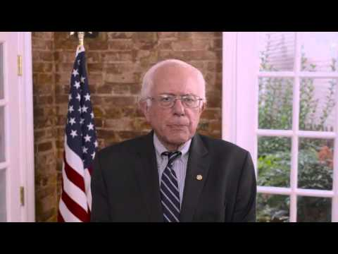 Senator Bernie Sanders video message to the Arab American Institute's National Leadership Conference