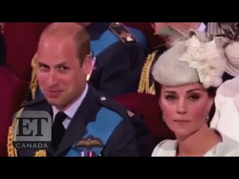 Prince William Giggles At Westminster Abbey Service