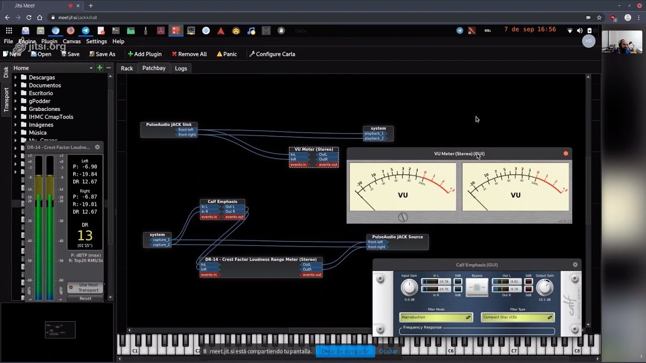 Audio JACK en Linux] Agregando Plugins y Efectos vía Carla