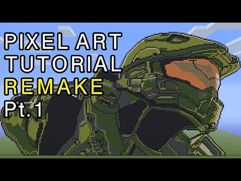 Minecraft Pixel Art Tutorial - Master Chief Halo Remake Part 1