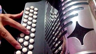 como tocar la canelera en acordeon facilito