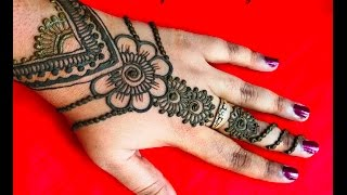 stylish easy simple mehndi henna designs for hands-mehndi designs tutorials step by step