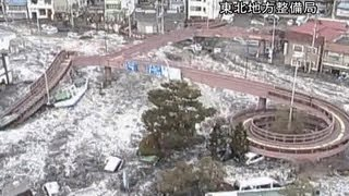 Surveillance camera footage of the 2011 tsunami in Japan