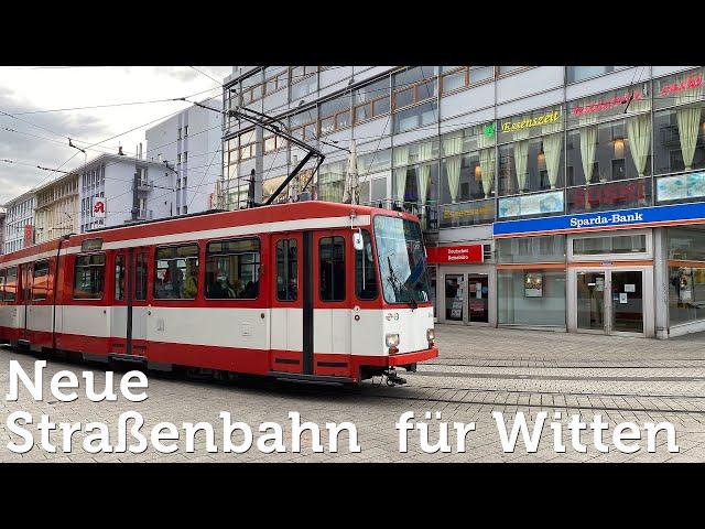 Neue Straßenbahn für Witten vor der Eröffnung (2020)