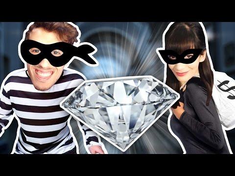 Giochi di ladri che rubano diamanti