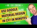 Contact Form 7 Design - Google Material Design Examples