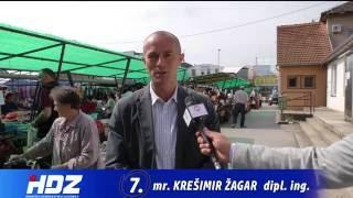 Gradonačelnik grada Našica Krešimir Žagar u obilasku tržnice