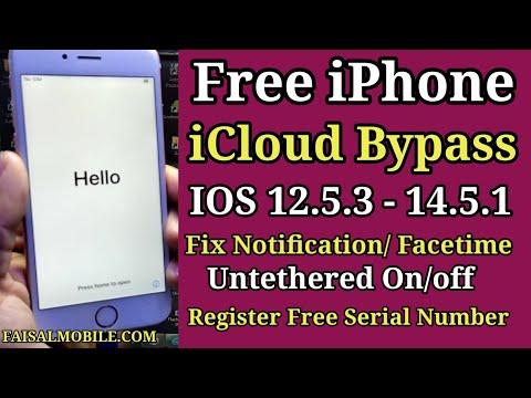 Free iCloud Bypass iOS 12.5.1-14.5.1 Fix Notification/Facetime/Register ...