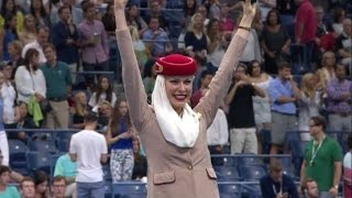 cabin crew take centre stage at the us open   tennis   emirates