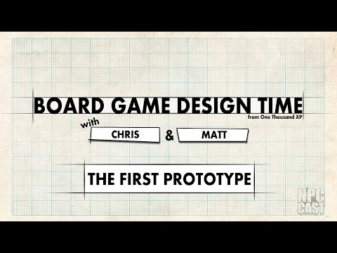 Board Game Design Time - The First Prototype - Episode 02