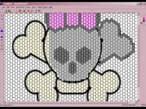 tubular peyote stitch graph paper