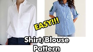 Shirt/Blouse Pattern tutorial //Pattern Making