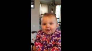 Dad makes cute baby cry
