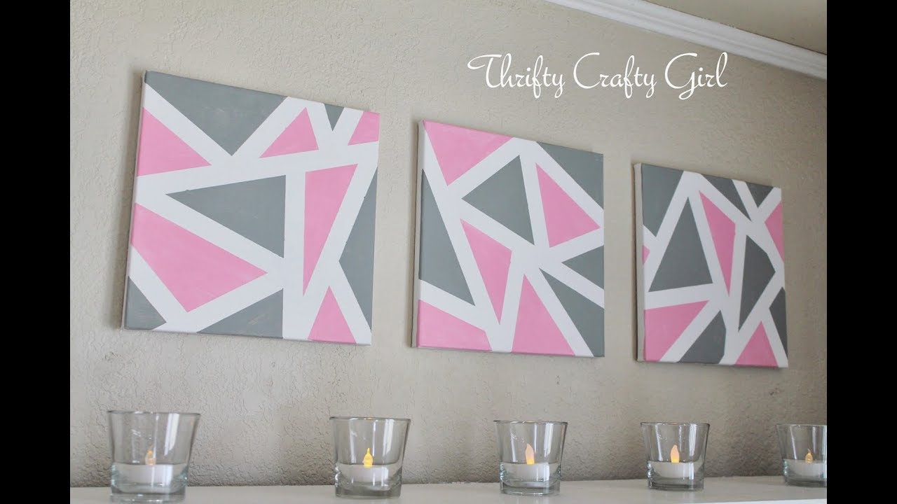 DIY Wall Decor | DIY Abstract Metallic Wall Art | DIY ...