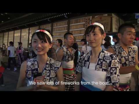 Enjoying Tenjin Matsuri Festival in Osaka