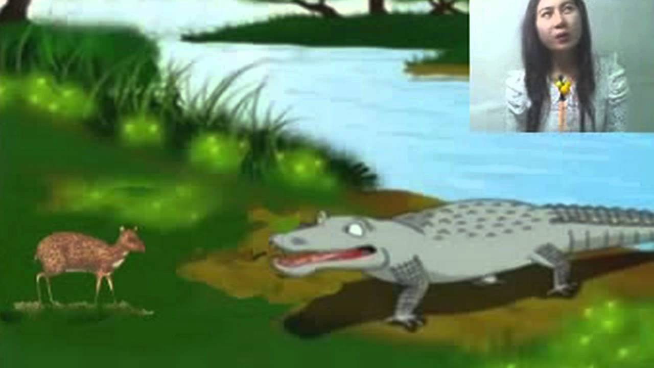 outwitting a crocodile Character: sang kancil and sang buaya protagonist: sang kancil because sang kancil, a smart and sly mouse deer he can fool the another animals to escape from trouble.