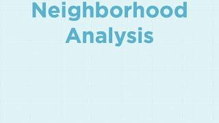 Appraisal Workflow in Statwing - Part 1 Neighborhood Analysis
