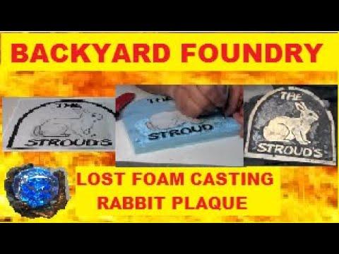 Rabbit Plaque: Bronze Metal Casting Made using Lost Foam Process