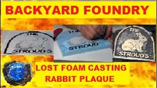 Rabbit Plaque: Bronze Metal Casting Made Using Lost Foam Process