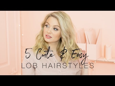 5 Cute And Easy Lob Hairstyles