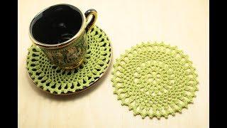 Вязание для начинающих - как связать ажурный круг крючком How to Crochet for Absolute Beginners