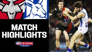 WOW! One of the games of the season? Essendon v North Melbourne Highlights   Round 17, 2019   AFL