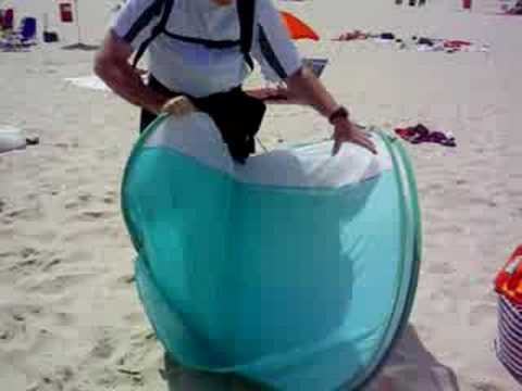 Seaside Heights - Beach Tent Folding & Seaside Heights - Beach Tent Folding - YouTube
