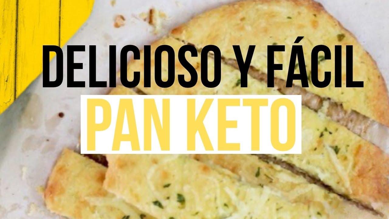 Pan de ajo Keto delicioso y rápido estilo PAN PLANO
