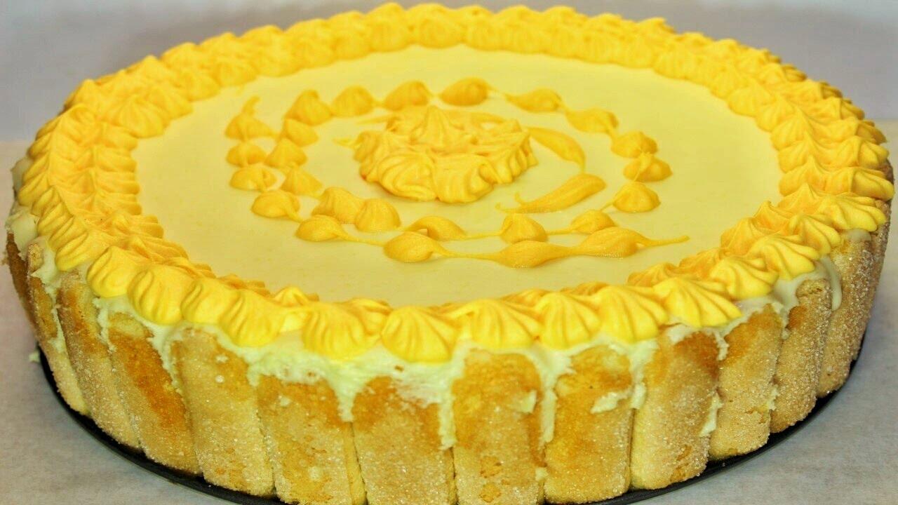 تورتة رائعة من بسكويت أصابع الست و الجبنة و الكريمة و نكهة البرتقال - التيراميسو بالبرتقال