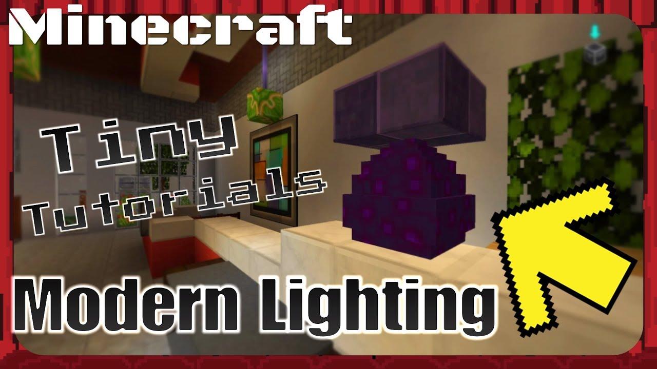Modern Lighting!! Tips and Tricks! Minecraft Tiny Tutorials! & Modern Lighting!! Tips and Tricks! Minecraft Tiny Tutorials! - YouTube azcodes.com