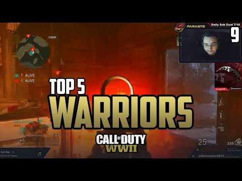 Parasite Gets DESTROYED! - COD WWII: TOP 5 PRO WARRIORS #9 - Call of Duty World War 2
