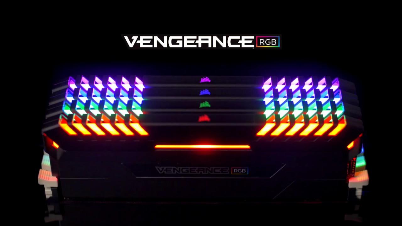 corsair vengeance rgb ddr4� stunning rgb striking speed