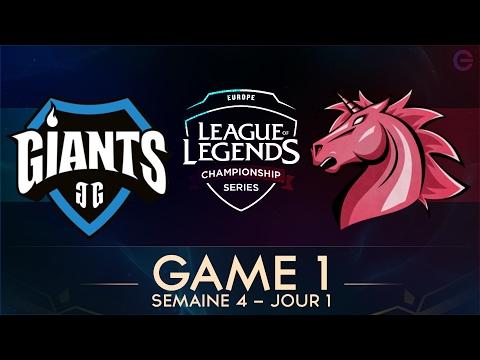 UOL VS GIANTS • GAME 1 - LCS EU 2017 - Week 4 - Day 1