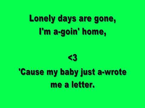The Letter by The Boxtops lyrics