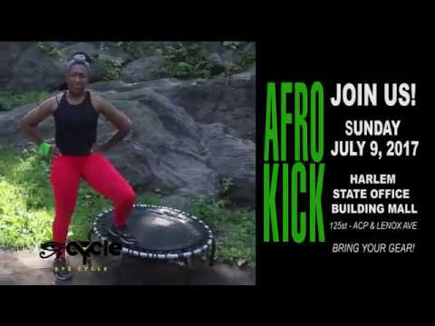 EYECYCLENYC - AFRO KICK #joinus in Harlem/ Bronx/ NYC  - African Dance Kickboxing AfroKick