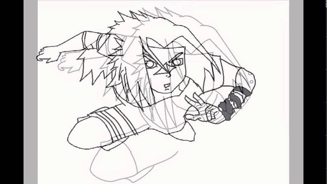 Desenhando Sasuke Uchiha Transformado Paint Youtube