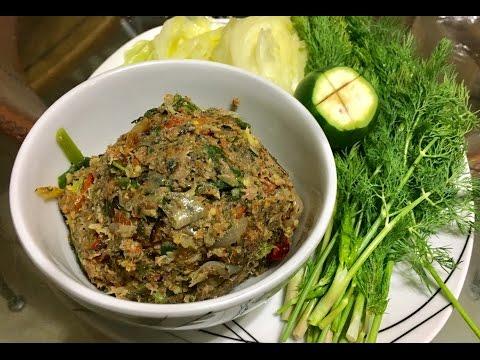 How to make Jeow giant water bug mang da ແຈ່ວແມງດານາ ( LAO FOOD ) HOME MADE BY KAYSONE