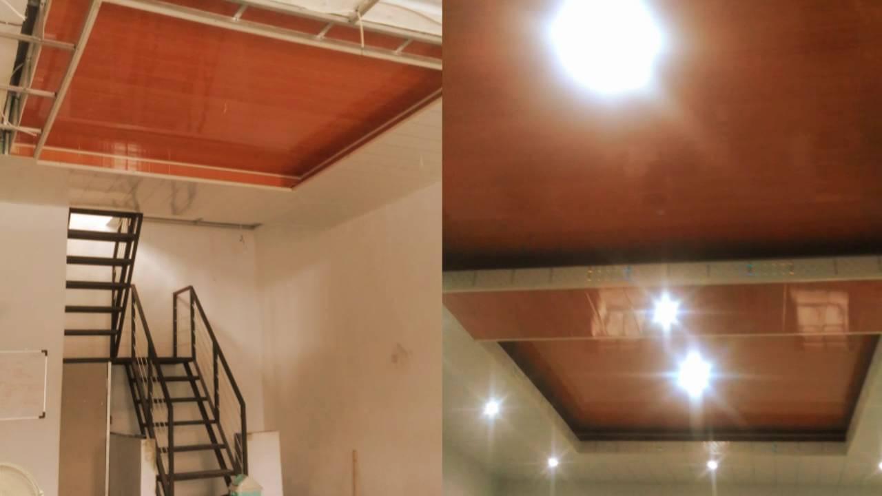 plafon dari baja ringan pemasangan rangka atap dan pvc 081221686661