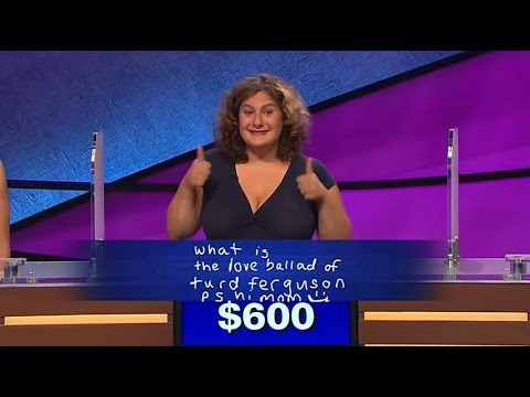 Top trends:'Jeopardy!' Contestant Tricks Alex Trebek Into Saying Turd Ferguson